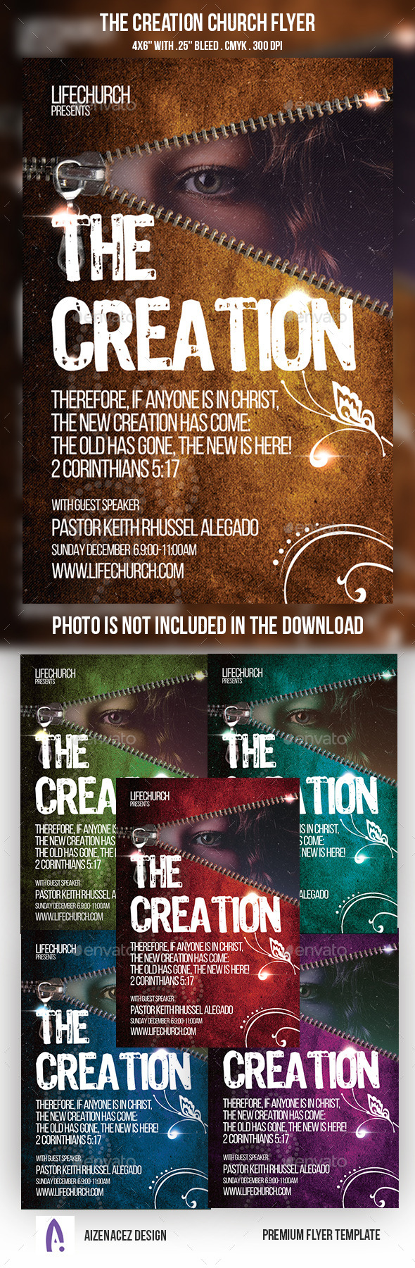The Creation Church Flyer - Church Flyers