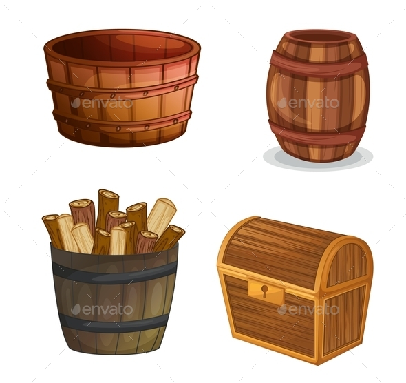Various Wooden Objects - Miscellaneous Vectors