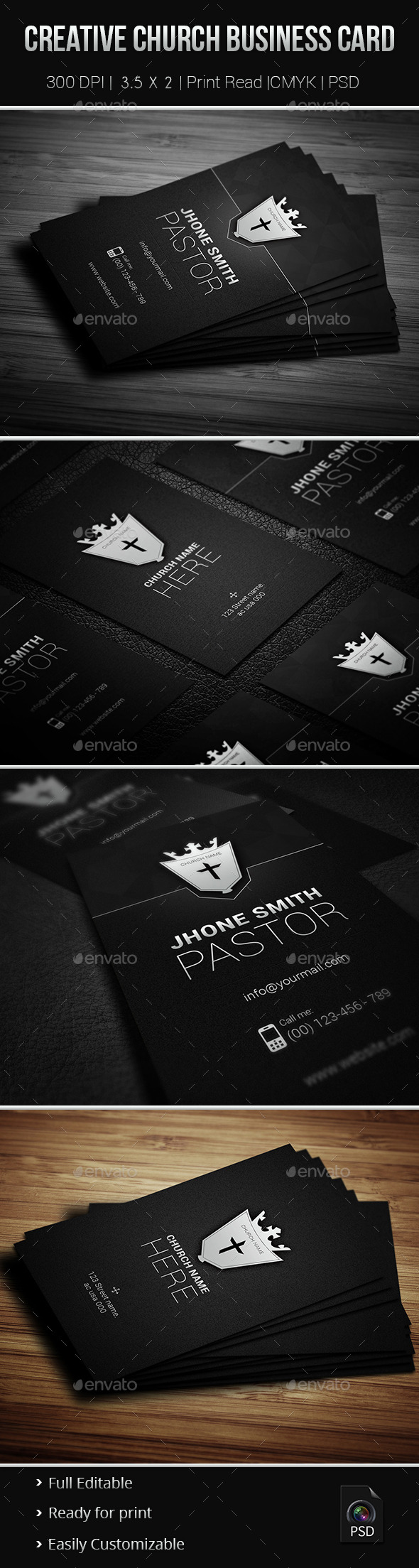 Creative Church Business Card - Industry Specific Business Cards