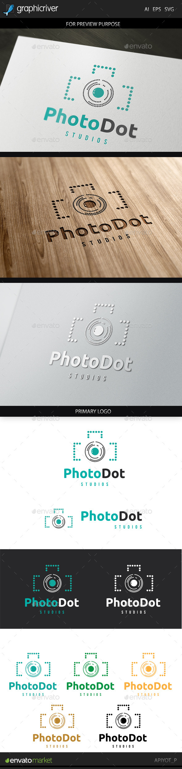 Ptotodot Logo - Objects Logo Templates