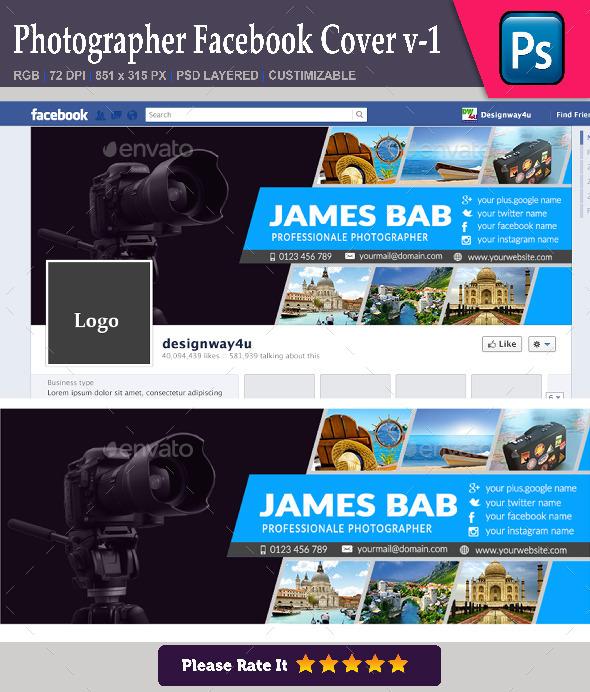 Photographer Facebook Cover v-1 - Facebook Timeline Covers Social Media