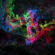 Rainbow Cosmos Background
