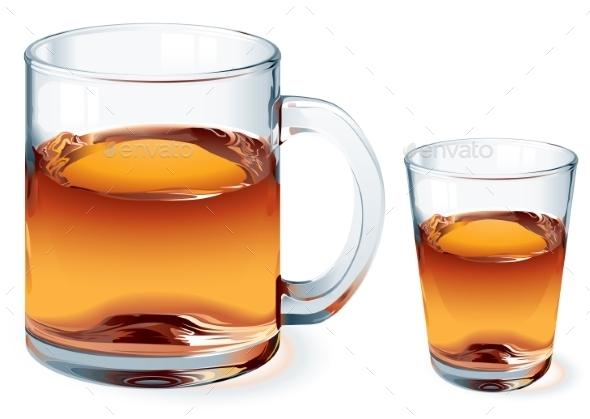 Glass of Tea - Food Objects