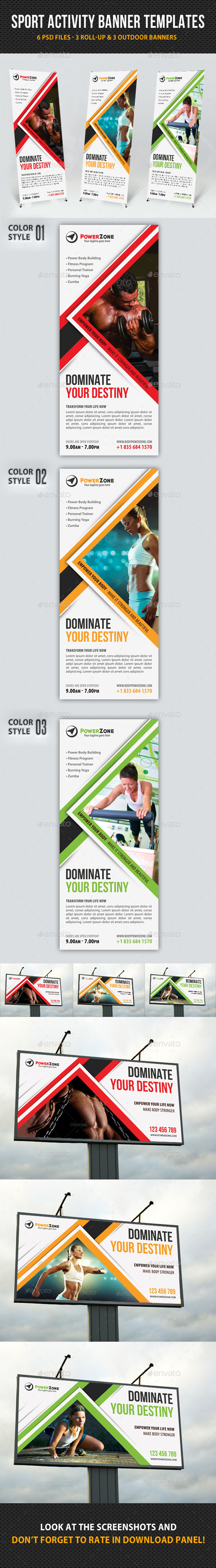 Sport Activity Banner Templates - Signage Print Templates