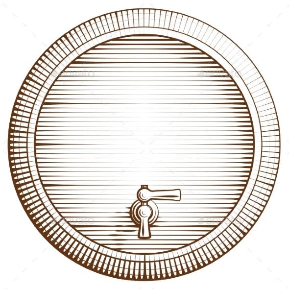 Wooden Barrel - Food Objects