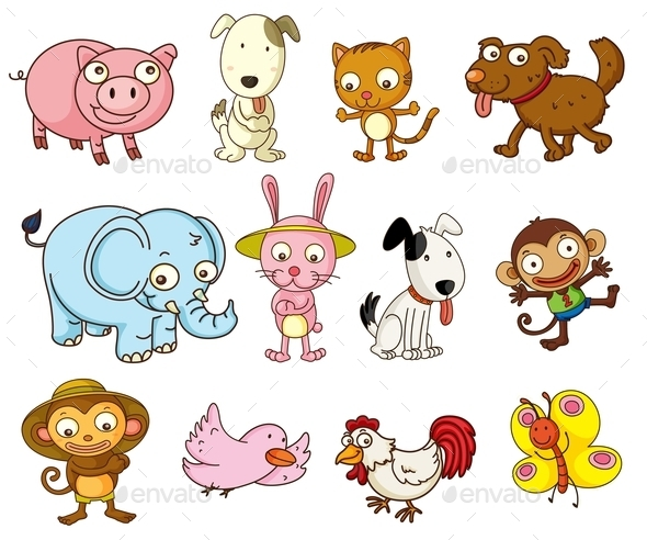 Cartoon Animals - Characters Vectors