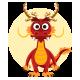 Chinese Dragon Mascot Emoticons Set