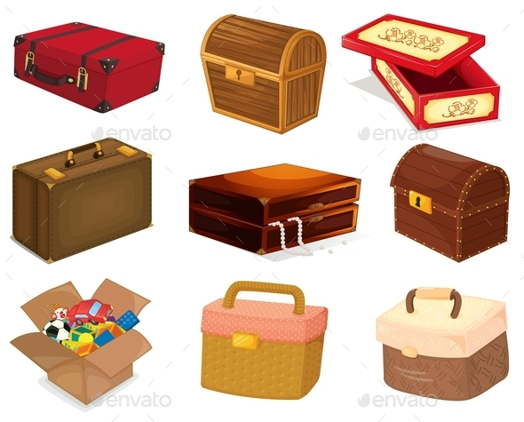 Bags and Boxes  - Miscellaneous Vectors