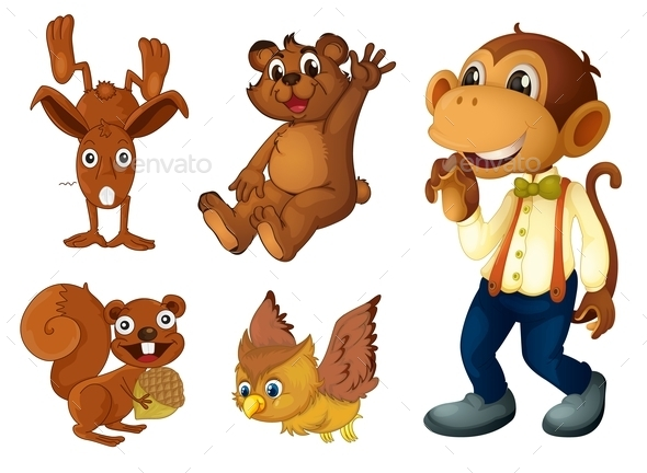 Brown Animal Collection - Animals Characters