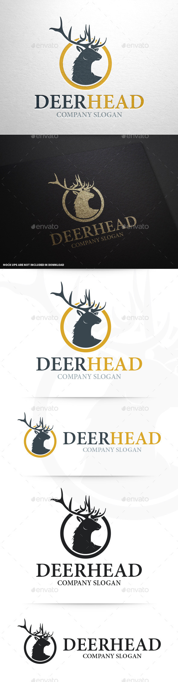 Deer Head Logo Template - Animals Logo Templates