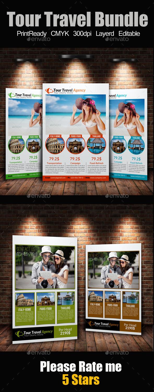 A4 Tour Travel Flyer Bundle - Corporate Flyers