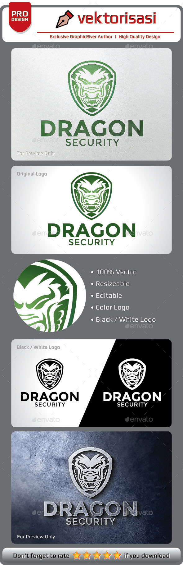 Dragon Security Logo - Animals Logo Templates