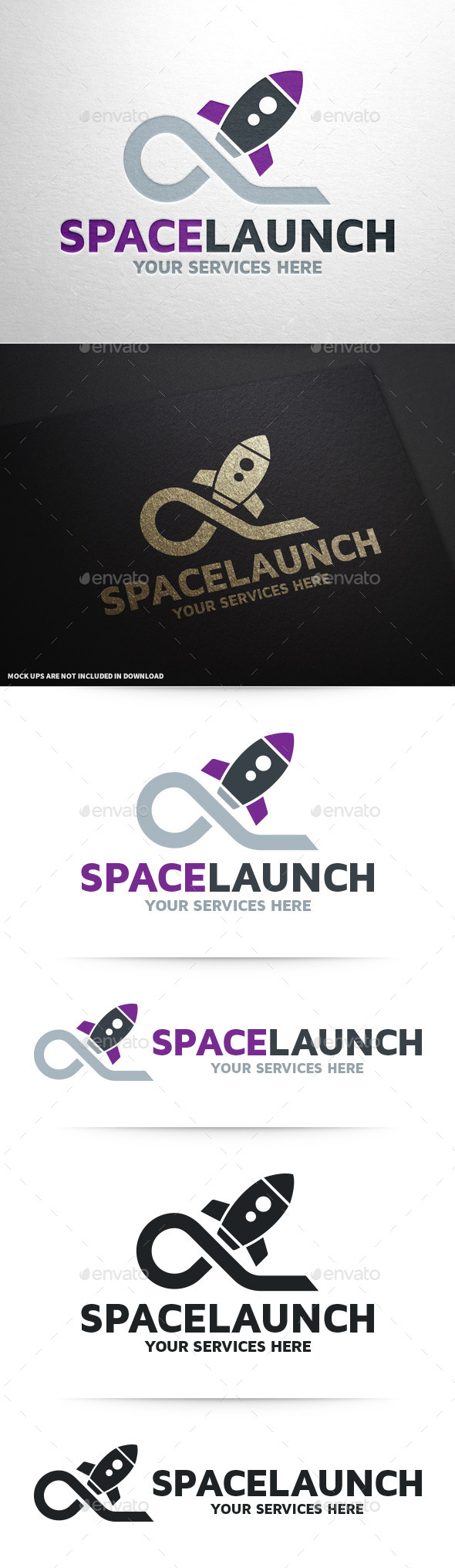 Space Launch Logo Template - Objects Logo Templates