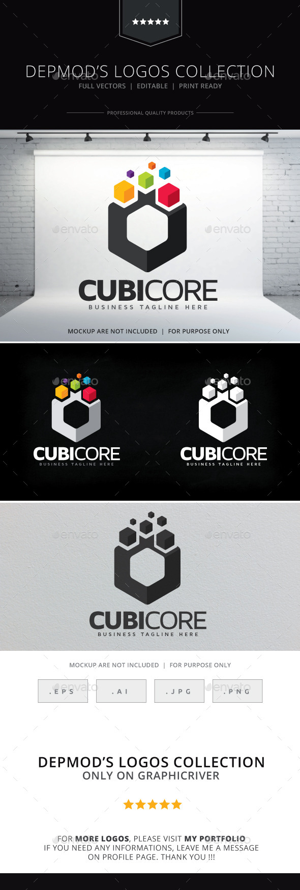 Cubicore Logo - Abstract Logo Templates