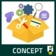 15 Flat SEO Marketing Concepts - GraphicRiver Item for Sale