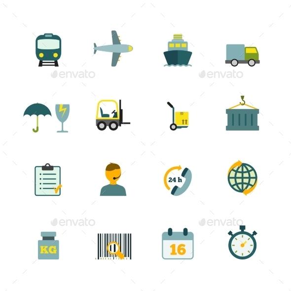 Logistic Icons Set  - Web Elements Vectors