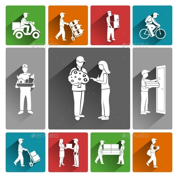 Delivery Icons - Business Conceptual