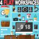 Flat Office Workplace
