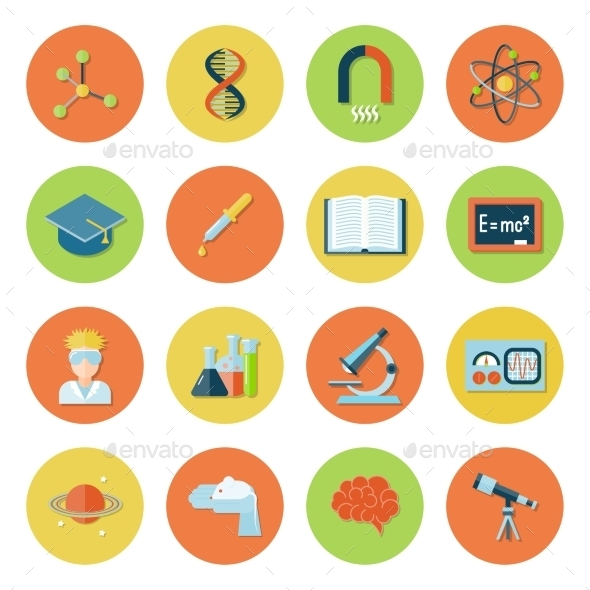 Science and Research Icons - Technology Icons