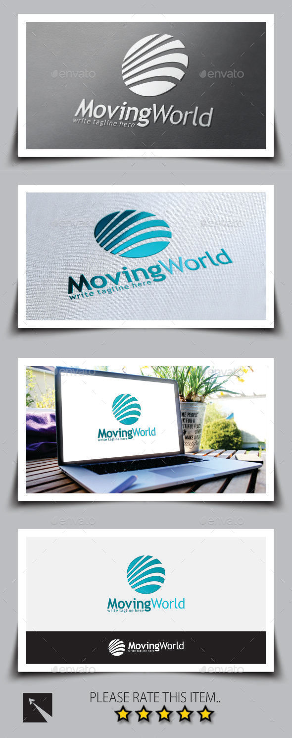 Moving World Marketing Logo Template - Abstract Logo Templates
