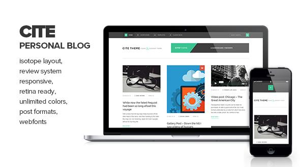 Cite - Clean & Elegant Personal Blogging Theme