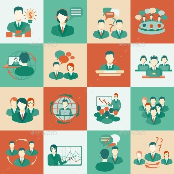 Meeting Icons Set  - Web Technology
