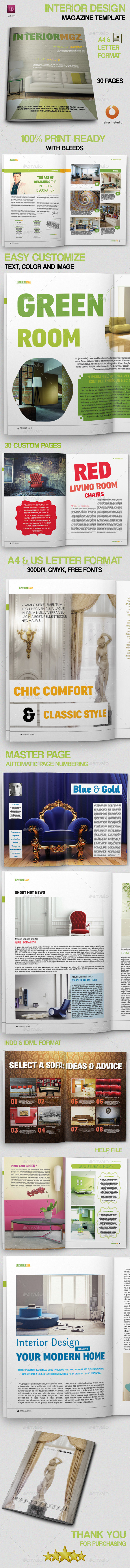 Interior Design Magazine Template - Magazines Print Templates