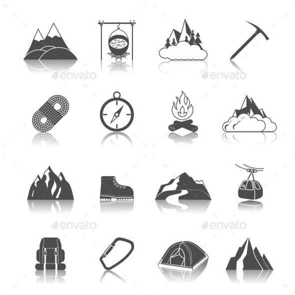 Mountain Icons Black - Miscellaneous Icons