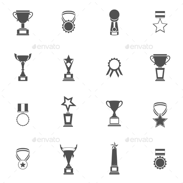 Trophy Icons Set - Abstract Icons
