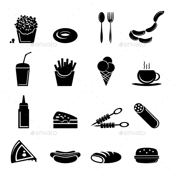Fast Food Icons - Food Objects