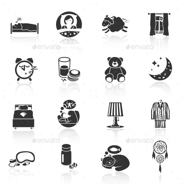 Sleep Time Icons - Web Icons