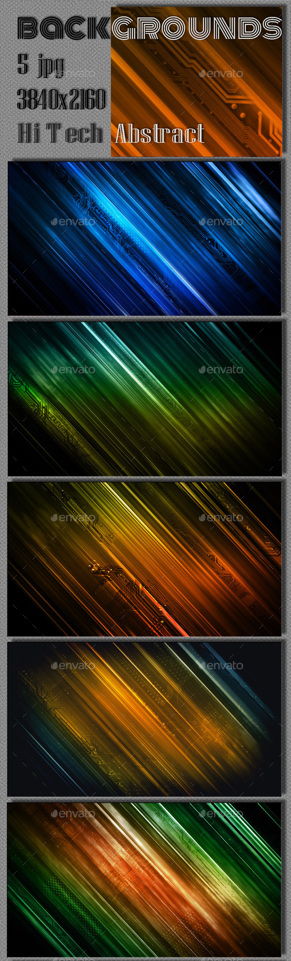 Abstract Hi Tech Background - Tech / Futuristic Backgrounds