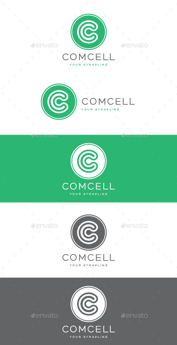 Comcell Letter C Logo - Letters Logo Templates