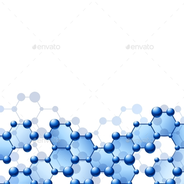 Background with Molecule Structure - Health/Medicine Conceptual