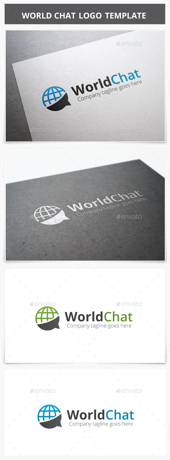 World Chat Logo - Vector Abstract