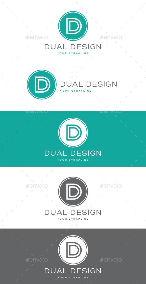 Dual Design Letter D Logo - Letters Logo Templates