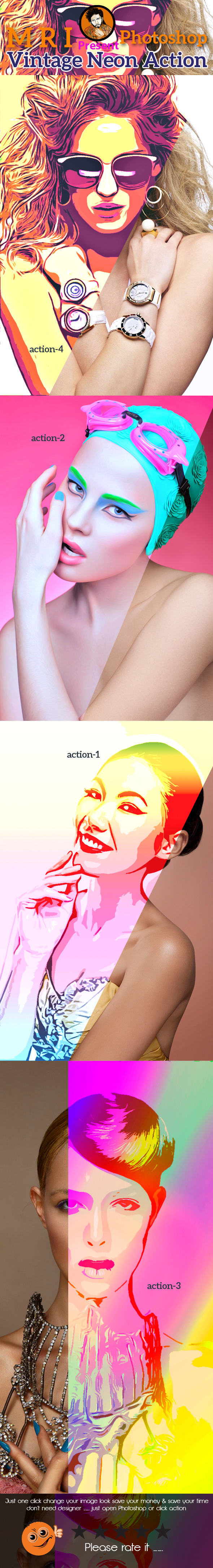 Geometric Pop Action - Photo Effects Actions