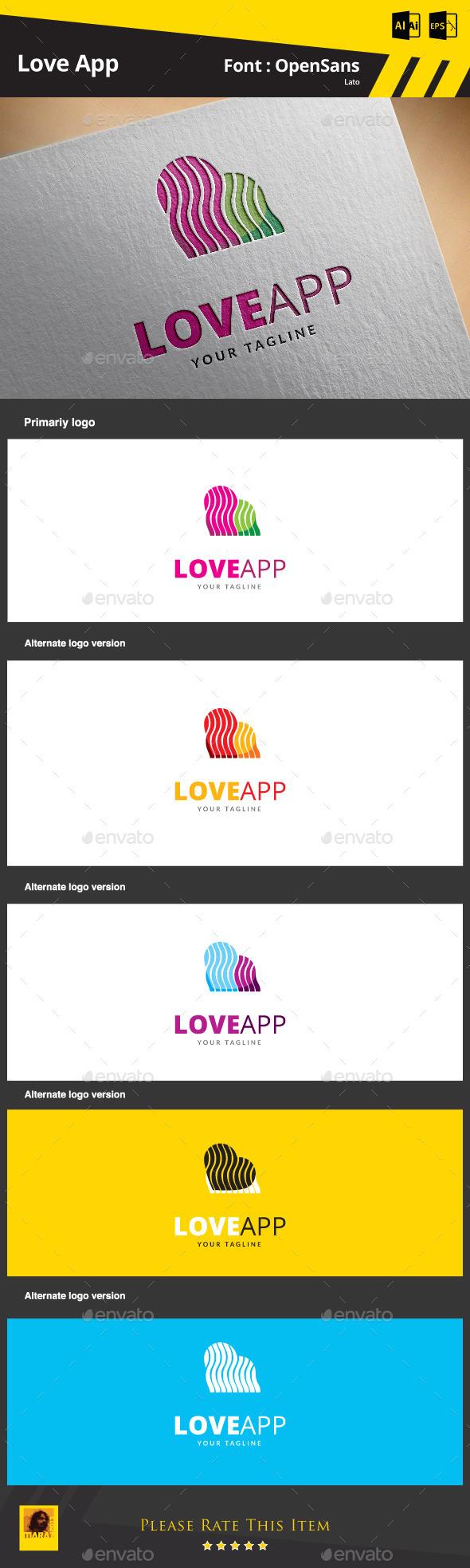 Love App - Symbols Logo Templates