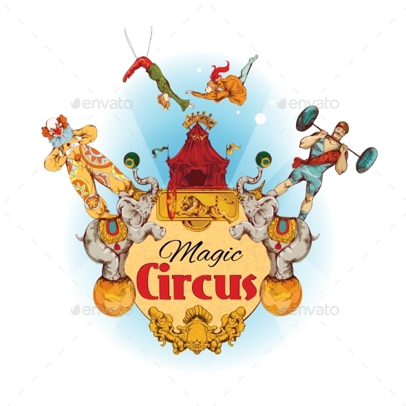Circus Colored Background - Decorative Vectors