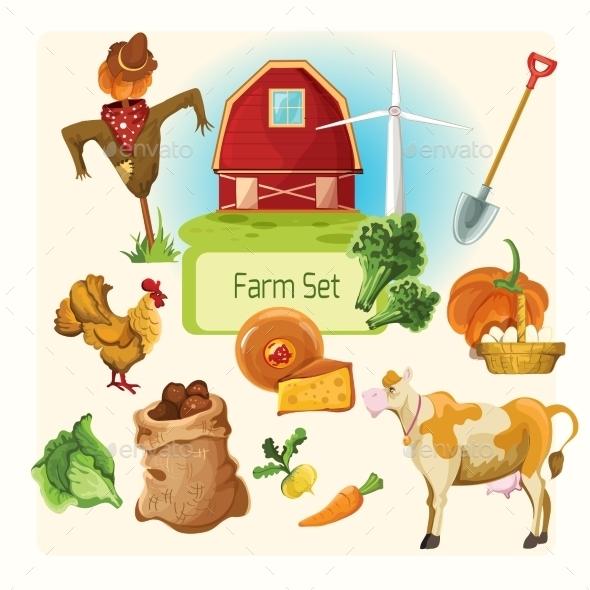 Farm Decorative Set - Miscellaneous Vectors