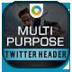 Multi Purpose Twitter Header - GraphicRiver Item for Sale