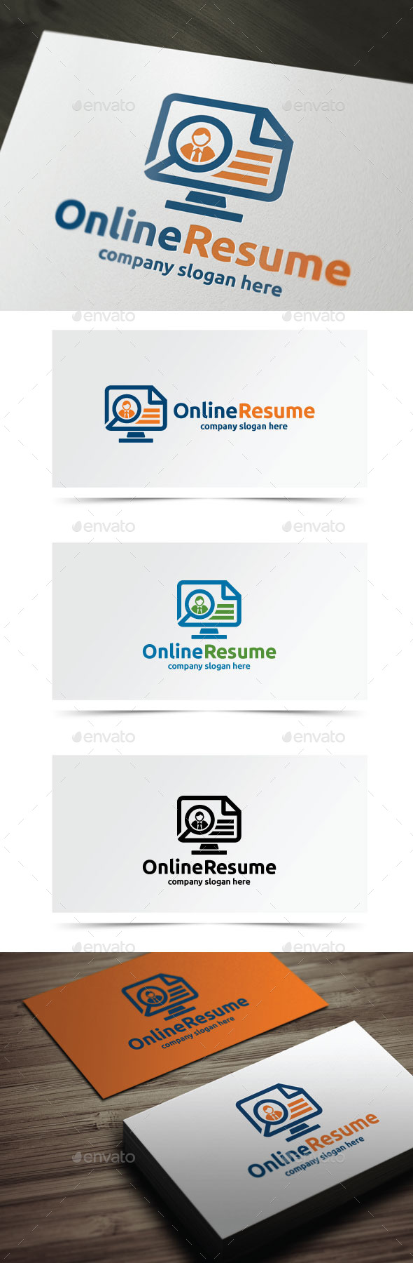 Online Resume - Objects Logo Templates