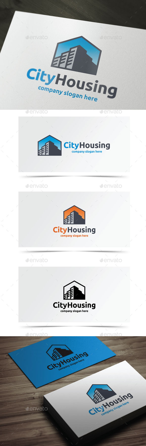 City Housing - Buildings Logo Templates
