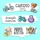 Fitness Sketch Banner Set - GraphicRiver Item for Sale