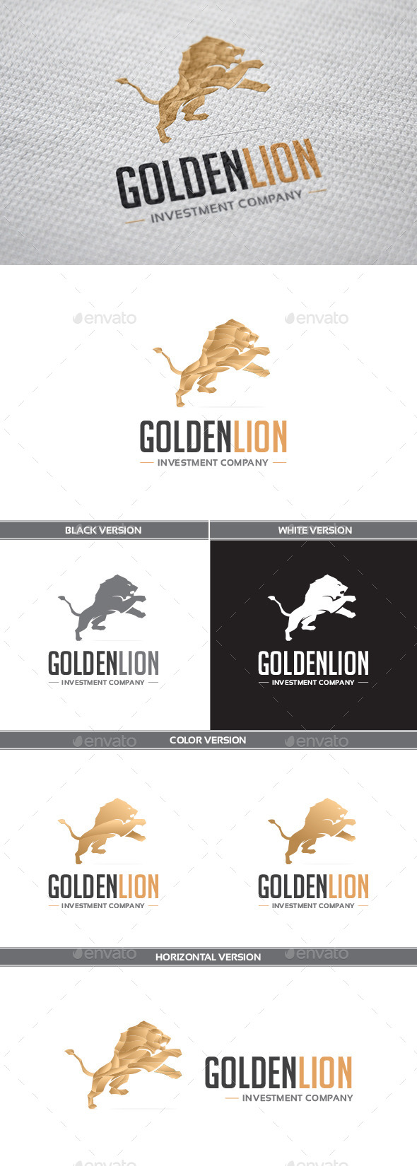 GoldenLion Logo - Animals Logo Templates