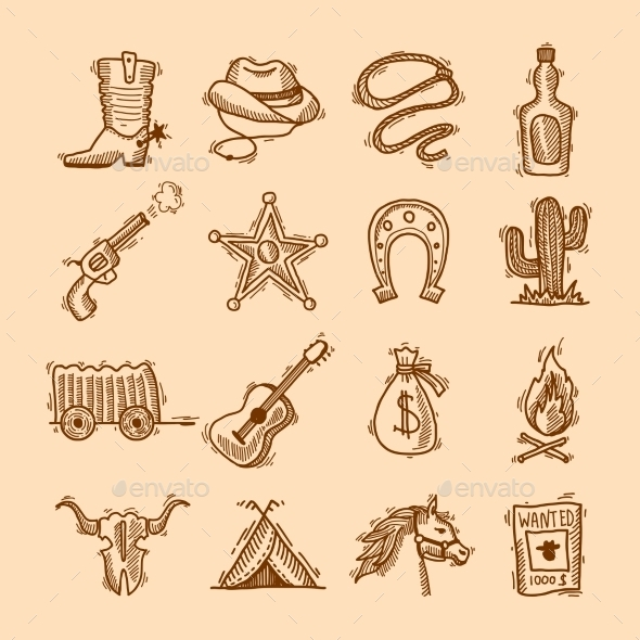 Wild West Set - Miscellaneous Vectors