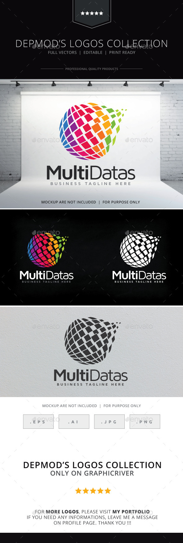Multi Datas Logo - Abstract Logo Templates