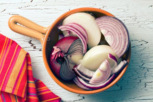 chopped onion - Stock Photo - Images