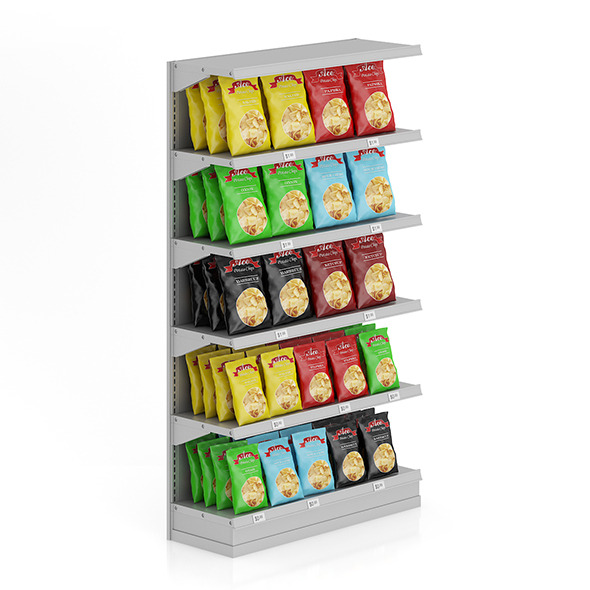 Market Shelf - Potato chips - 3DOcean Item for Sale