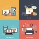 Computer Repair Flat Icons Composition - GraphicRiver Item for Sale